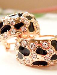 Miss Black brilhante brincos leopardo impressão do vintage u mulheres