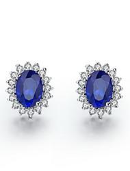 1.5 карат Сапфир 925 Серебристый Белый Позолоченные SONA Алмазная Стад серьги для женщин ювелирные изделия