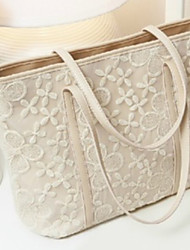 Backroom Lace Flower Tote(Almond)