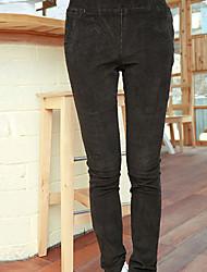 Folli coreano SlimCorduroy Skinny Pants