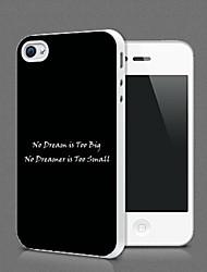 Personalized classica Protezione nera Shell per iPhone 4S / 4