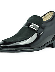 Leather Men Low Heel Comfort Loafers Elevator Shoes