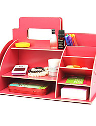 Creative Red Wooden Storage Shelf