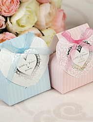 12 Piece/Set Favor Holder-Cuboid Card Paper Pearl Paper Favor Boxes Non-personalised