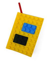 Lego Silica Gel Cubierta A6 Notebook (Amarillo)