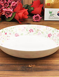 Flower Patterned Appetizer and Dessert Plate, Bone China Diameter 18.2cm