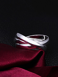 MISS U Einfache Silber Ring