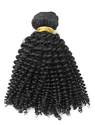 1pcs 22inch Natural Black Kinky Curly Malaisie Virgin Hair Weave