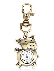 Unisexe Style mignon de porc cru d'alliage de quartz trousseau Watch
