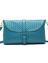 Mega Fashion Genuine Leather Shoulder / Crossbody Bag (Azul)