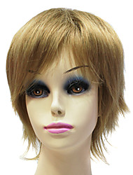 Light Brown Short Straight Capless Synthetic Wig