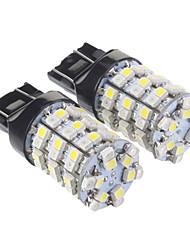Ampoule T20 7440 60x3528SMD lumière blanche chaude LED pour la voiture (12V, 2 pcs)