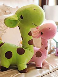 bonito dos desenhos animados girafa verde travesseiro novidade