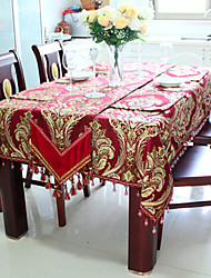 "Floral Jacquard Table Cloth, Velvet 40""*40"""