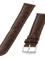 20 millimetri Uomo Alligatore Pelle Watch Band (Brown)