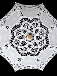"Wedding / Masquerade Lace Umbrella White 19.7""(Approx.50cm)"