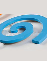 2pcs de dessin animé 3D bleu stickers muraux, stickers muraux amovibles