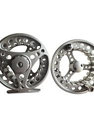 Profissional de prata do metal Fly Fishing Reel com um carretel de reposição