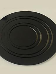 5pcs 3D Stickers muraux, Abstrait Noir Cercles, amovible Stickers muraux