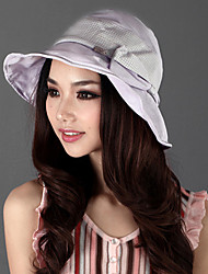 Xiaerbeiluo Bowknot Wide Brim Sun Hat(Lilac)