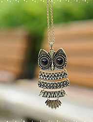 J & G de la vendimia del collar de la forma linda del búho