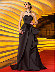 TS Couture® Formal Evening / Military Ball Dress - Vintage Inspired Plus Size / Petite A-line Sweetheart Sweep / Brush Train Satin