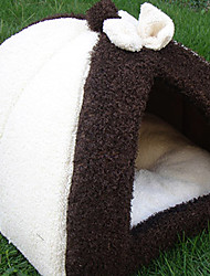Bowknot Fleece Chinese Mongolian Yurt Style Warm House Bed for Pets Dog Cat