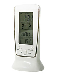 "4.92""H Thermometer Alarm Clock with Calender"