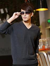 Мужская 55% шерсть V-образным вырезом свитер Мао Чун цвет