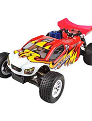 1/10 Escala Short Course Truck Nitro RC Single Speed ​​(vermelho)