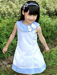 Girl's Dress Cotton Blend Summer