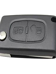 2 Button Flip Remote Key Shell for Citroen Peugeot