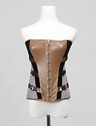 fechamento busk frente cetim de poliéster e lace-up corset shapewear shaper lingerie sexy