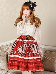 Angelic Pretty Red Alice Poker Lolita Kawaii Skirt Lovely Cosplay