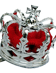 Crown Queen Fairytale Festival/Holiday Halloween Costumes Red Silver Patchwork Vintage Crown Halloween Carnival Unisex Alloy