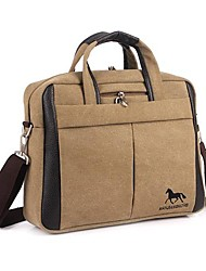 Unisex Canvas Casual Shoulder Bag / Tote - Black / Brown / Yellow