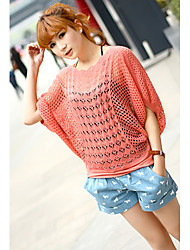 Women's Causal Candy Color Knitting Sweater