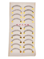 Hand-made Natural False Lower Eyelashes 020#