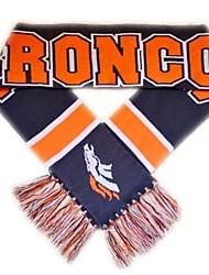 Поклонники шарф с полосой Knited согреться акриловая Мягкая команда логотип Тканые Графика для Бронкос