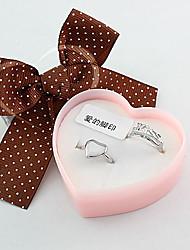 Silver Kiss coeur anneau de couples