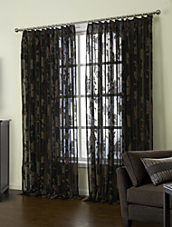 (Two Panels) Noble European Floral Sheer Curtain