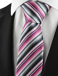 Nouveau rayé rose Mix Hommes de cravate pour le cadeau de vacances