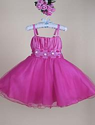 Girl's Organza Dress , All Seasons Sleeveless