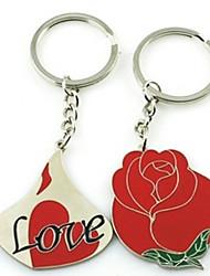 Amore & Red Rose abbinabili Keychain - insieme di una coppia