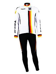 Kooplus - German National Team Cycling Long Sleeve Fleece Bib Suit