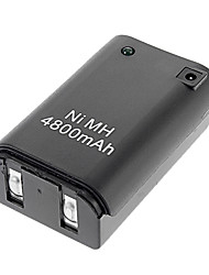 Rechargeable 4800mAh Battery Pack with USB Cable for Xbox 360 (Black)