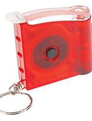 Single-Mode LED Lanterna Chaveiro com Fita Métrica (3xAG3, verde / vermelho)