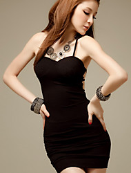 BZQ Women's Sleeveless Slim Fashion Backless Lace Bodycon Sexy Dresses
