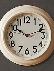 """12.5 """"H style moderne Horloge murale en métal"""