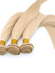 24inch 3Pcs Indian Remy Straight Hair Bleach Blonde Hair Weft